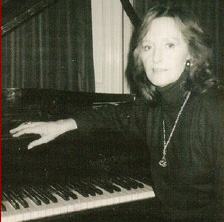 Barbara Moore at the piano